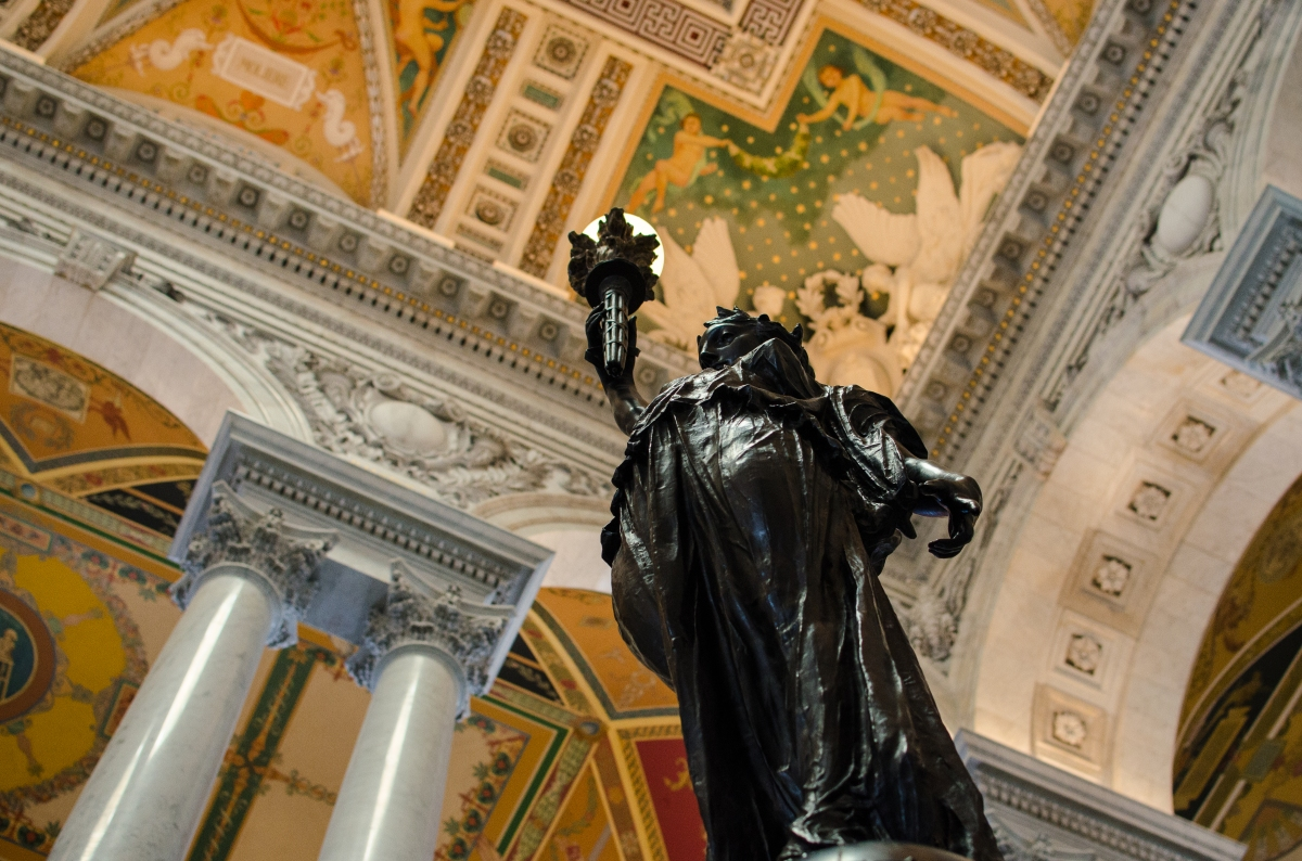 At the Library of Congress: a Symphony in Gold and Marble