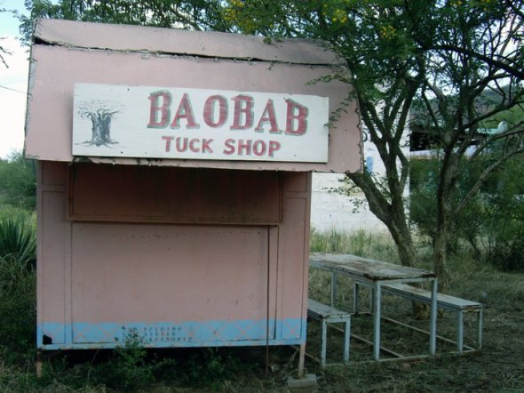 Baobab shop, No. 1 Ladies' Detective Agency movie set, Gaborone, Botswana