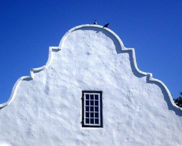 Dutch Cape gables, Stellenbosch, South Africa