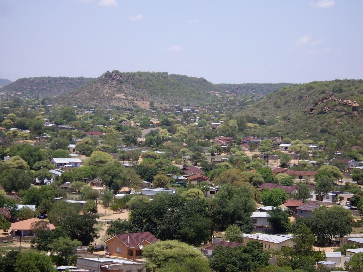 View of Mochudi, Botswana