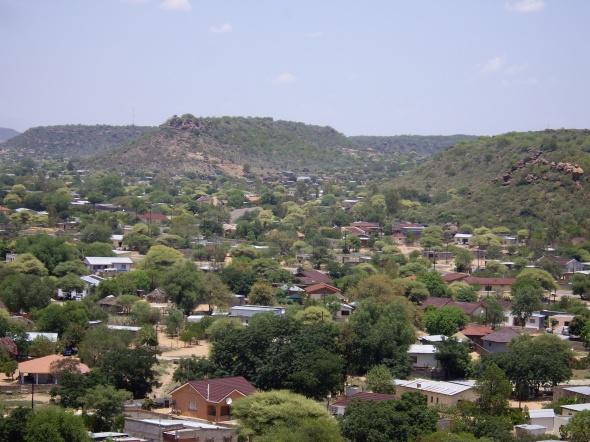 """Mochudi, """"birthplace"""" of Mma Ramotswe, a bustling town, Botswana"""