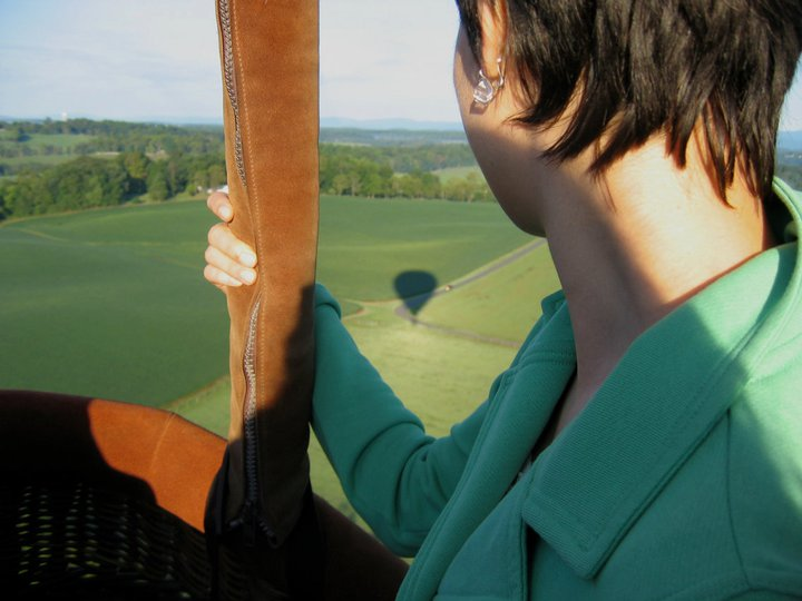 Floating over the world in a hot air balloon