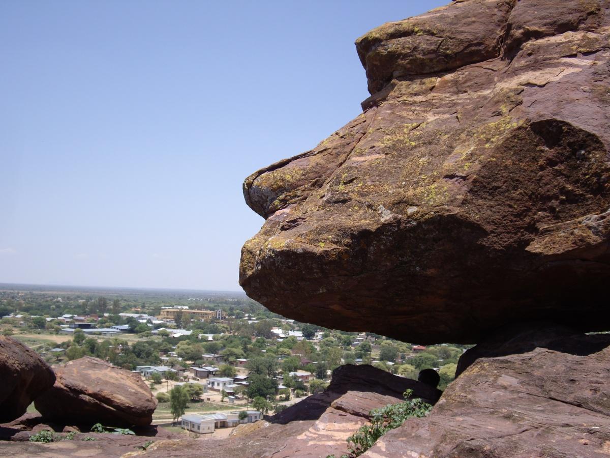 Odd cliffs over Mochudi, Botswana
