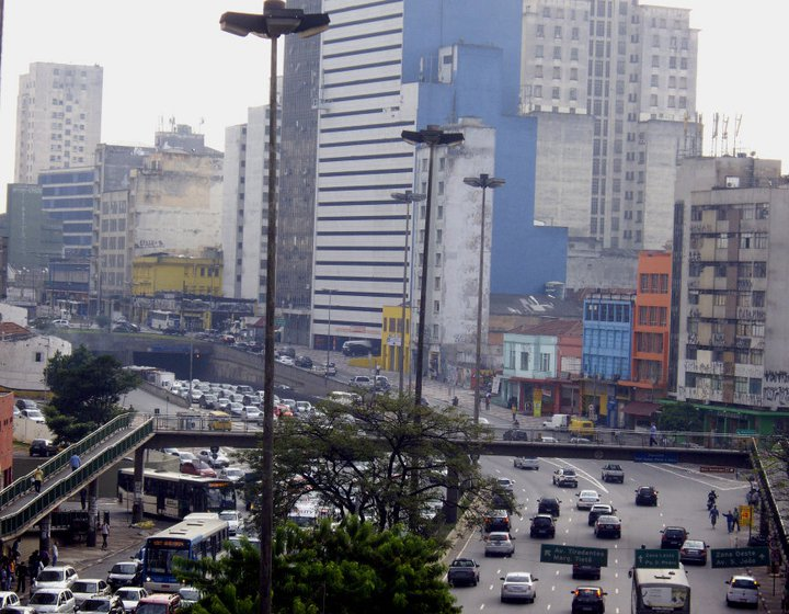Morning rush hour, Sao Paulo, Brazil