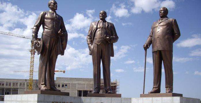 The Three Dikgosi Monument (Three Chiefs), Gaborone, Botswana