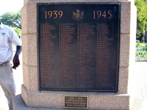 World War II memorial, Gaborone, Botswana