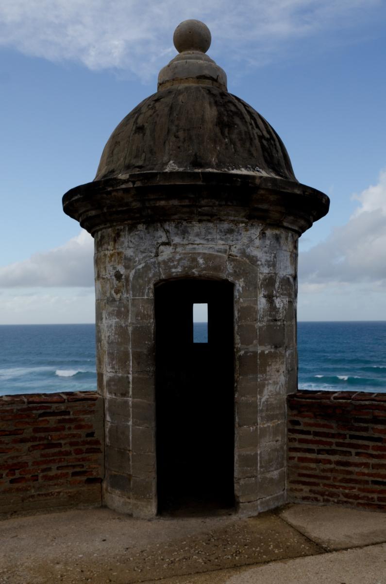 San Cristobal sentry tower, San Juan, Puerto Rico