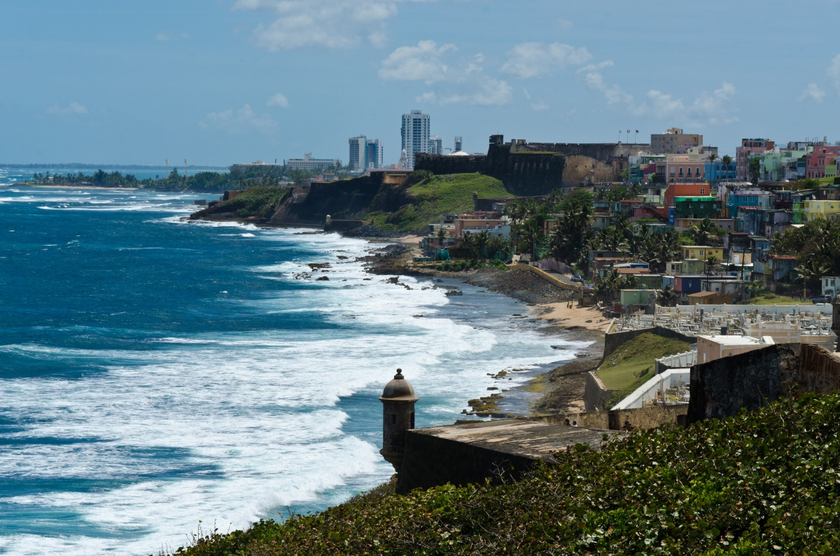 Ell Morro - coast view, Puerto Rico