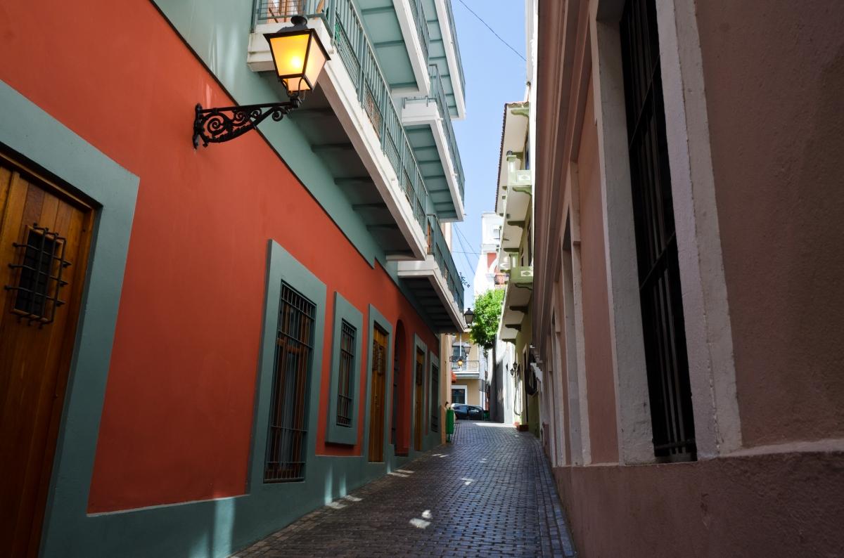 Old San Juan street, Puerto Rico