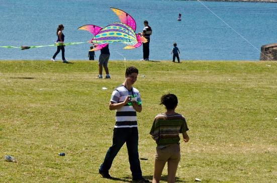 Flying kites over El Morro, San Juan, Puerto Rico
