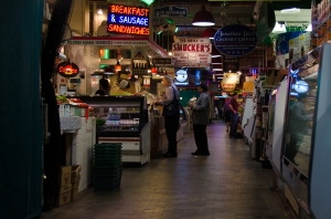 Reading Terminal Market , a maze of shops, food stalls, and cafes