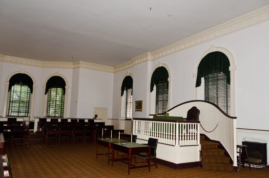Congress Hall -- where the Representatives met. In this room, Vermont, Kentucky, and Tennessee were admitted into the Union, the Bill of Rights was ratified, and George Washington and John Adams were inaugurated. — at Congress Hall, Philadelphia, PA.