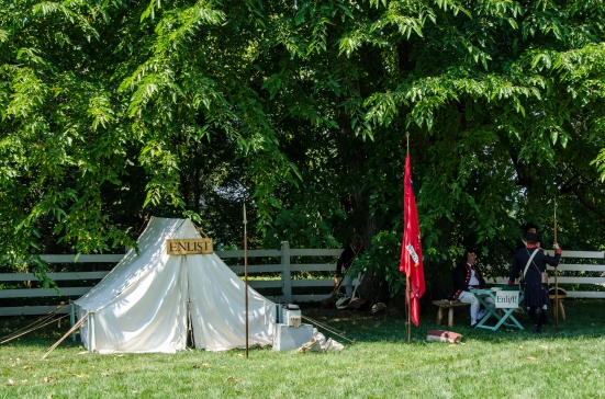 Enlistment tent at Mount Vernon
