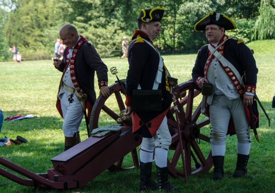 Preparing for the Military Drill during Mount Vernon's 4th of July Celebration