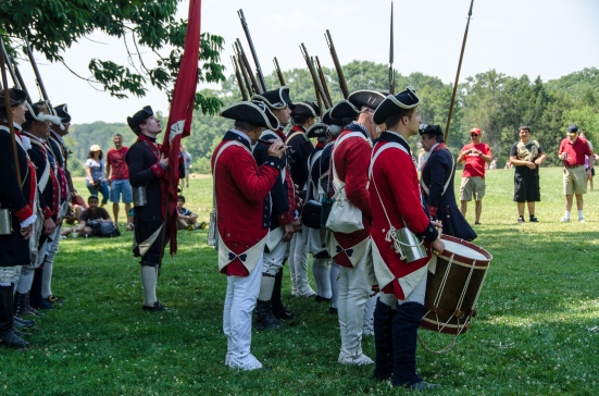 Drummers and flutist of the First VA Regiment, setting the military mood