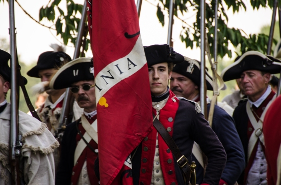 Military Drill at Mount Vernon, First VA Regiment