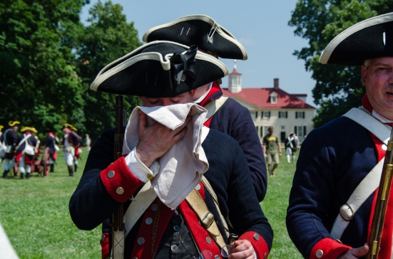 Dressed in wool in July, First VA Regimen, Mount Vernon