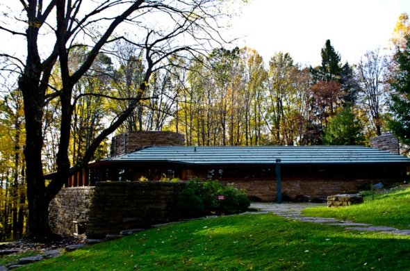 Almost at Kentuck Knob, Fallingwater's much younger, simpler sibling