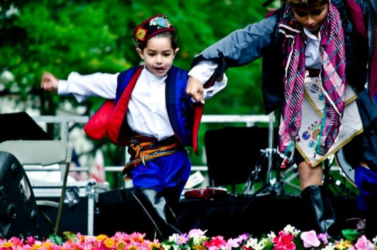 Boy dancing Turkish folk dance at DC Turkish Festival