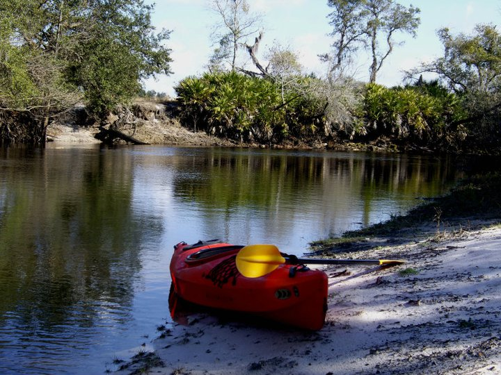 Kayaking at the Econlockhatchee River, in the Little-Big Econ State Forest, Central Florida