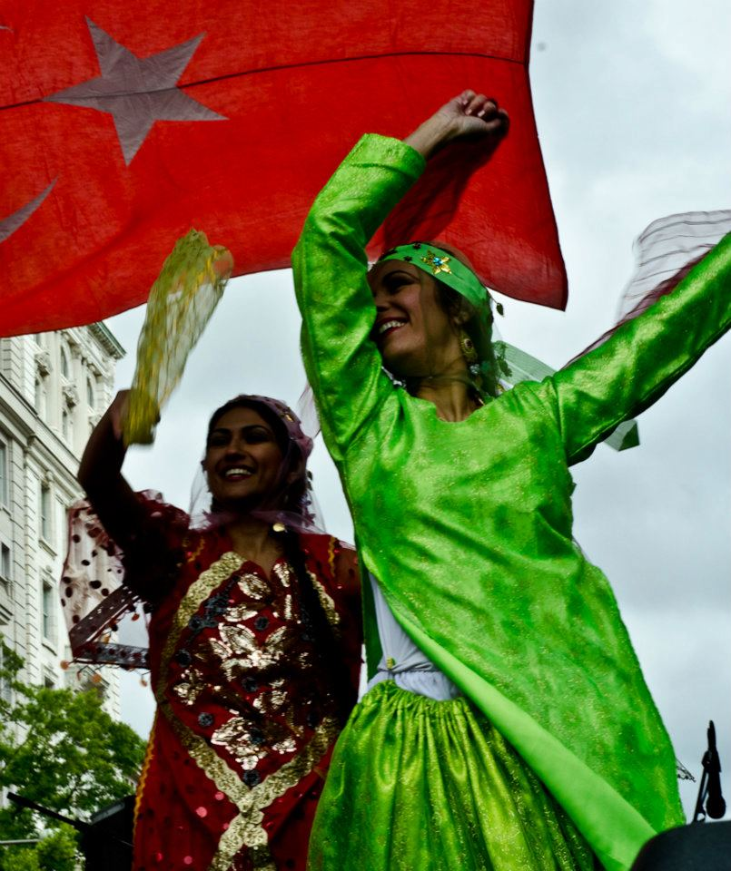 Women dancing with veils at the DC Turkish Festival
