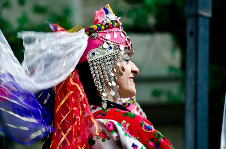 A woman dances at the DC Turkish Festival