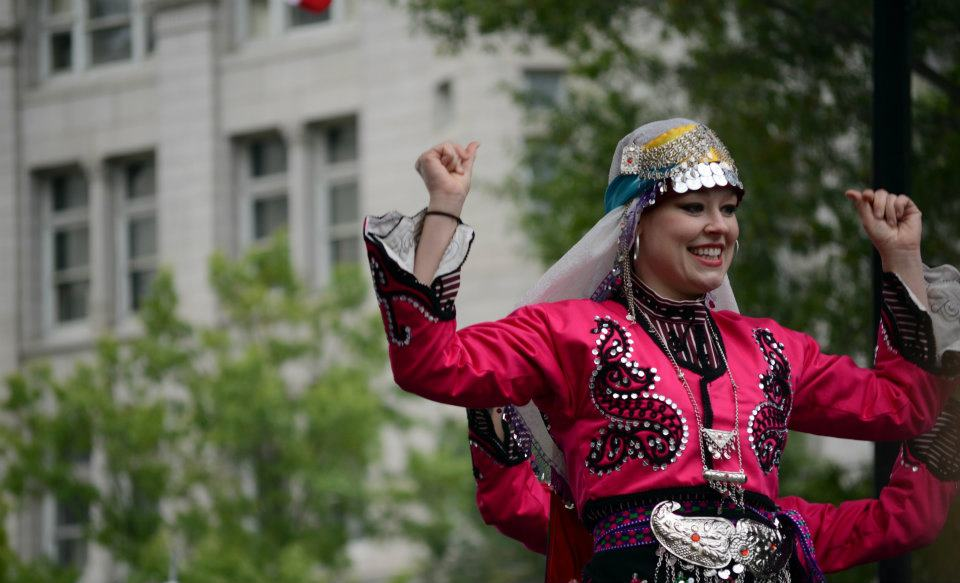 Turkish folk dancer at DC Turkish Festival
