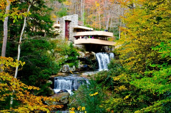 Frank Lloyd Wright's Fallingwater, unexpectedly enchanting