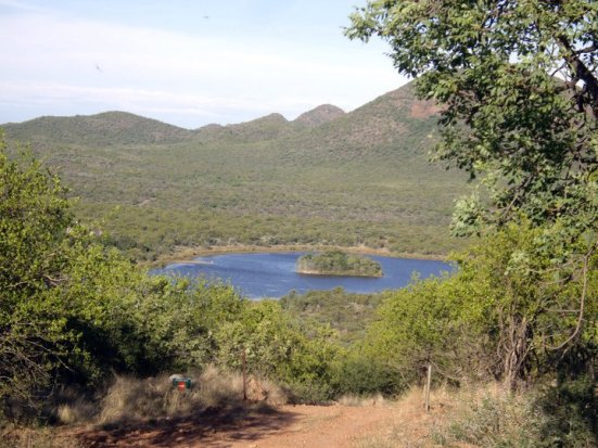 Man-made lake in Mokolodi Nature Reserve, Botswana