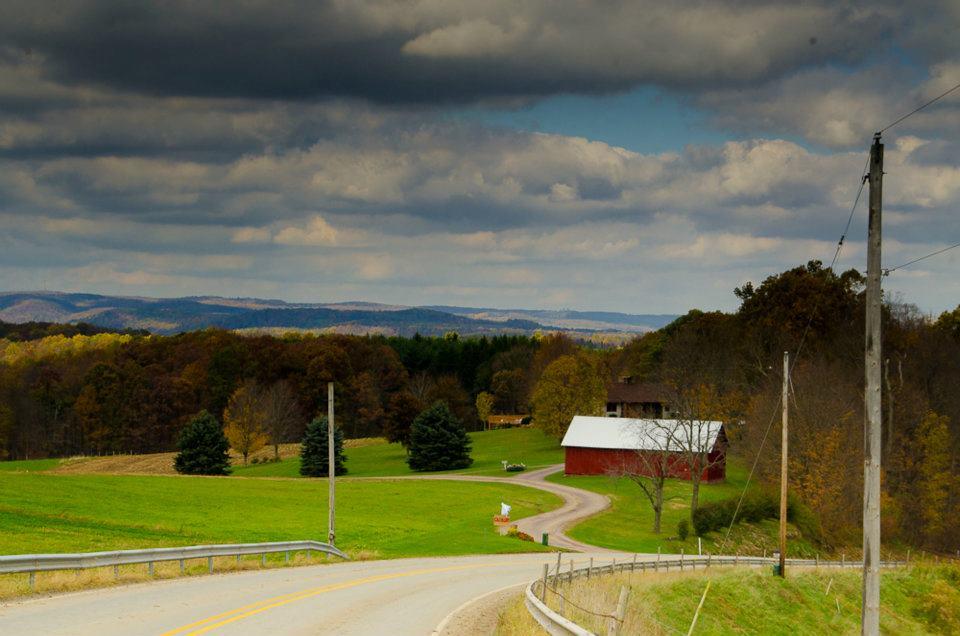 Pennsylvania Farm, in post-golden leaves in October