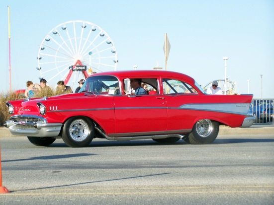Ocean City boardwalk - classic cars