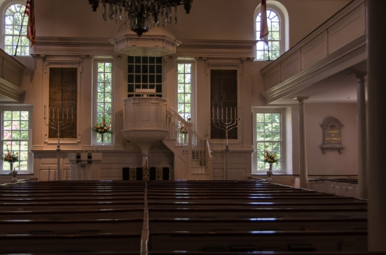 Inside Christ Church, Alexandria, VA