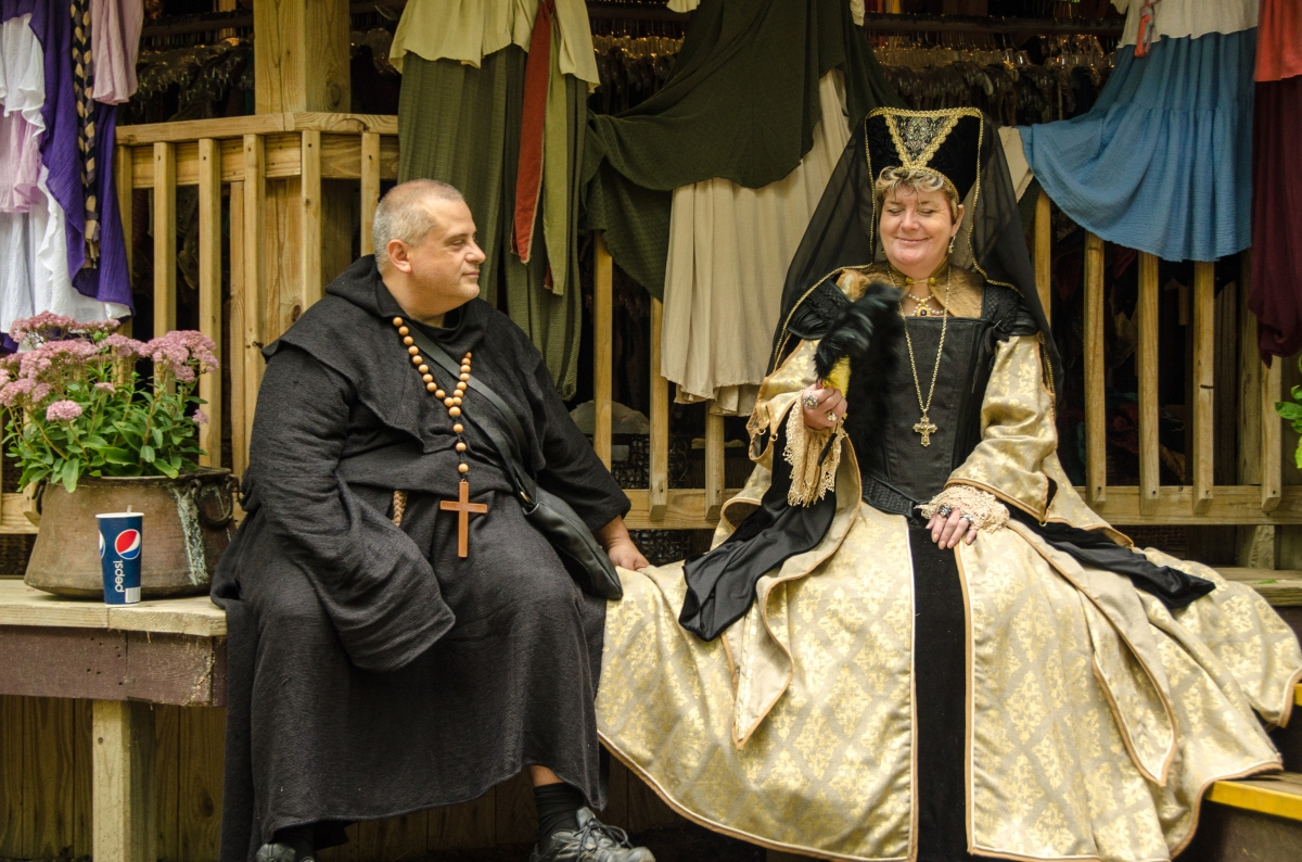 Jolly friar and a lady, Maryland Renaissance Festival