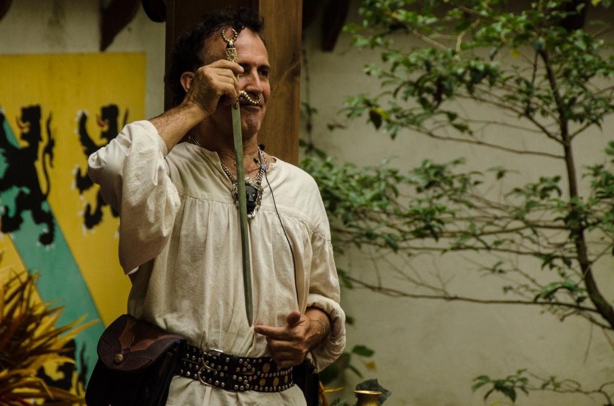 Johnny Fox, swordswallower extraordinaire, Maryland Renaissance Festival