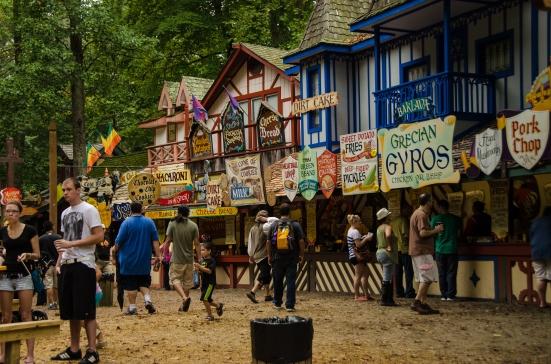 Food stalls, Maryland Renaissance Festival