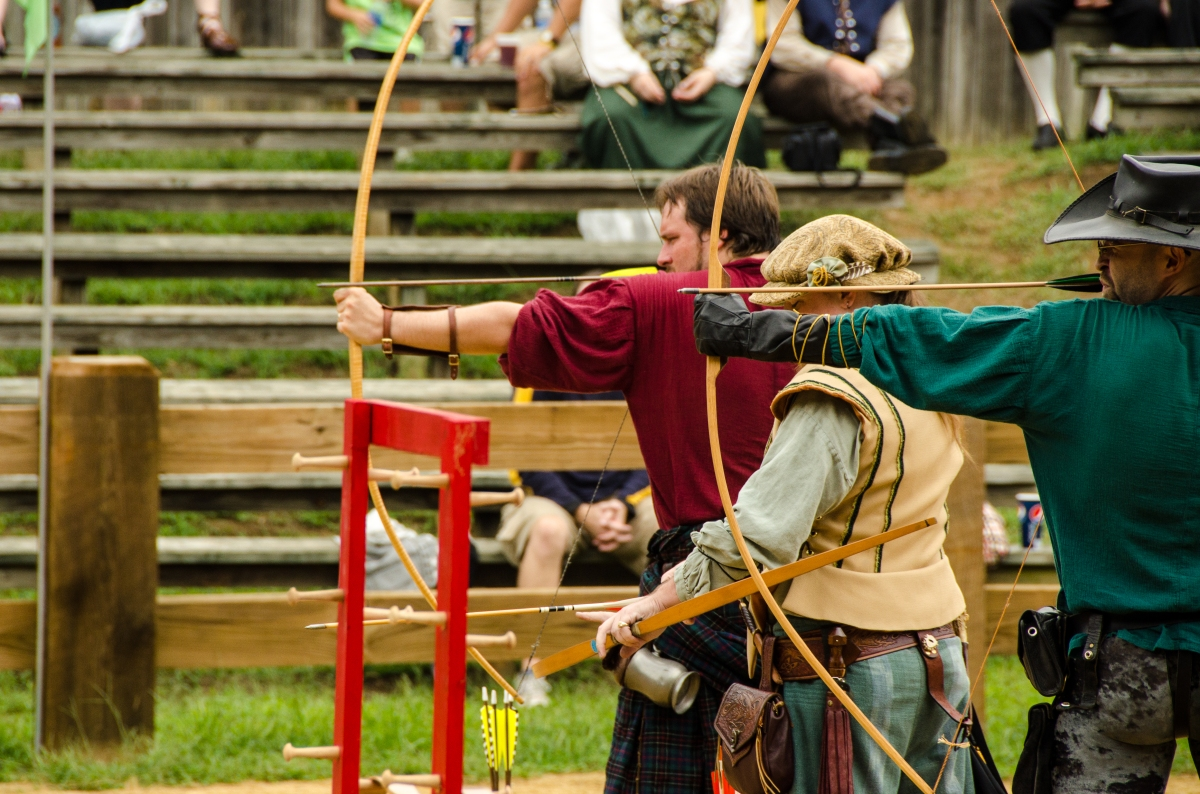 Archery demonstration at the Jousting Arena, Maryland Renaissance Festival