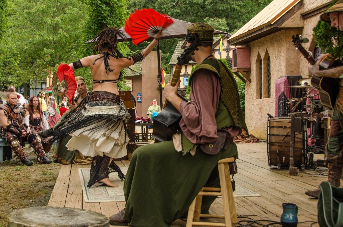 Wine and Alchemy fan dance, Maryland Renaissance Festival