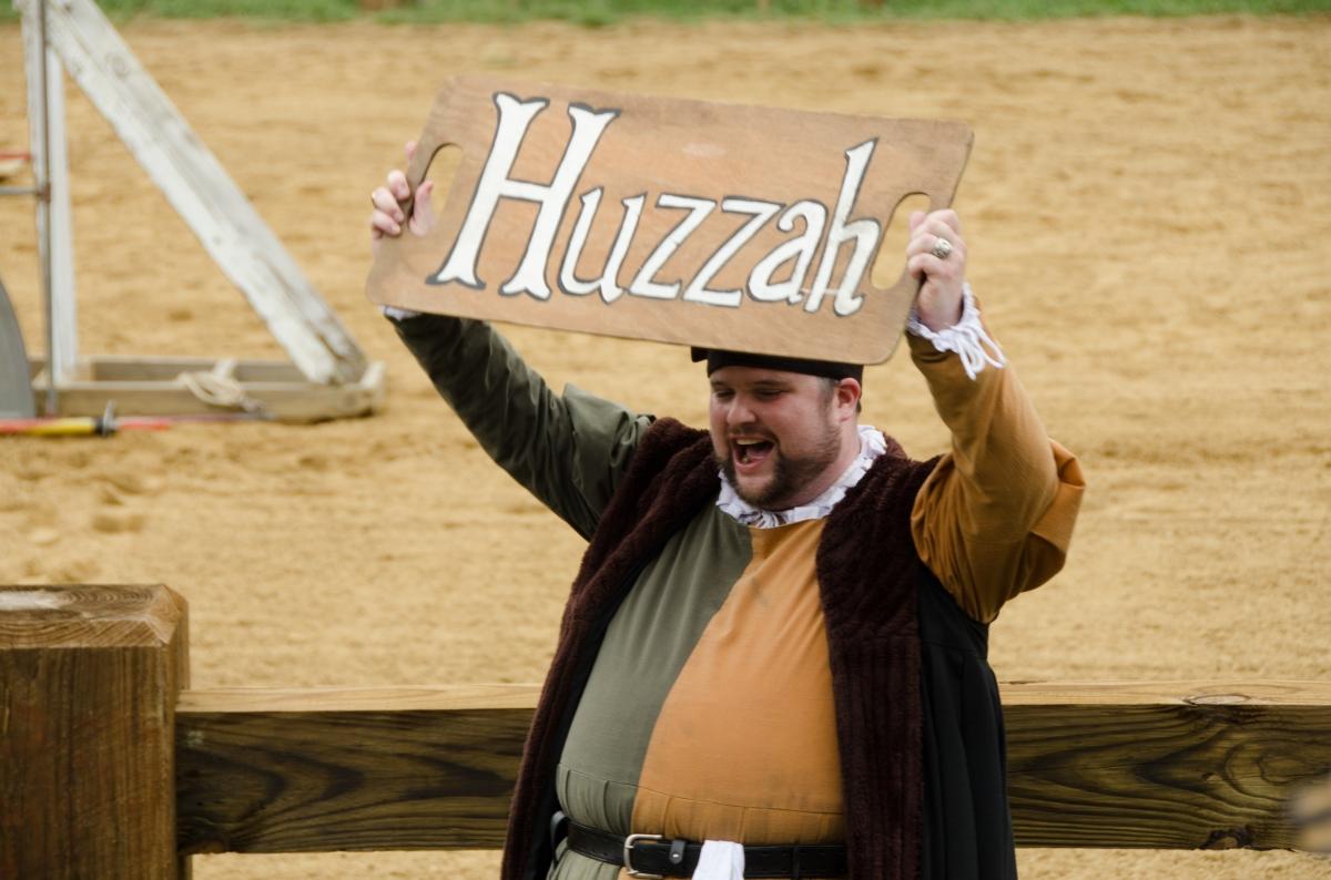 Huzzah at the jousts, Maryland Renaissance Festival