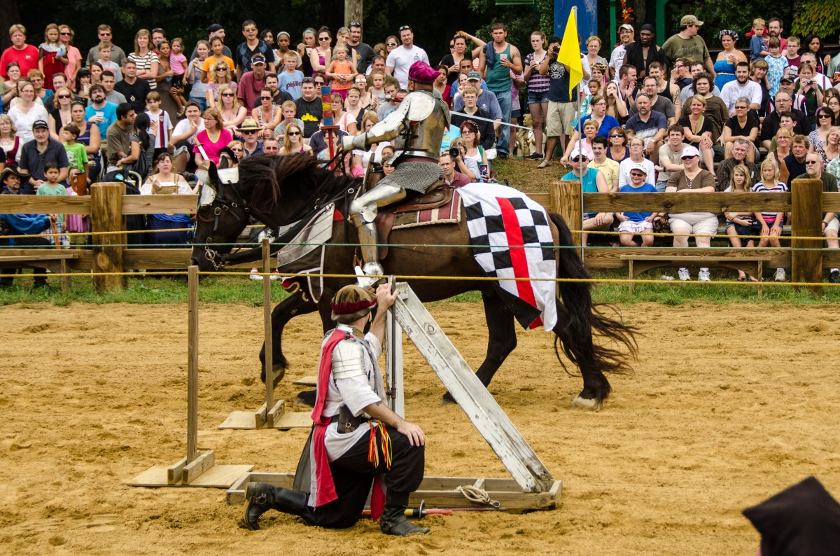 Jousting: trying to get THE HEAD OF THE TARTAR, Maryland Renaissance Festival