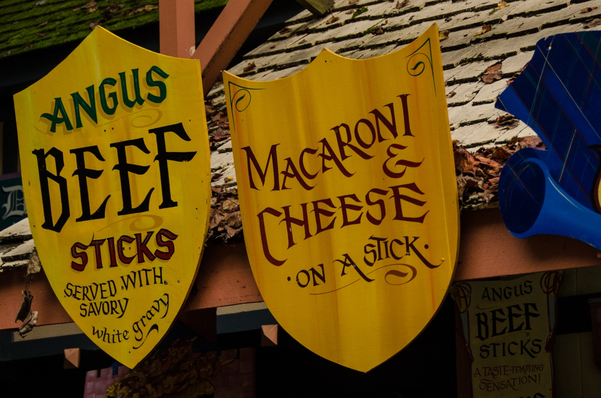 Anything on a stick, food at the Maryland Renaissance Festival
