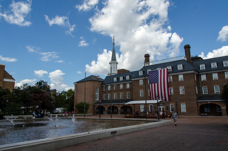 Old Town Alexandria's City Hall and Market Square