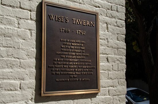 Wise's Tavern at 201 N. Fairfax, Alexandria, VA