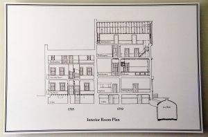 Gatsby's Tavern - interior plan for the City Tavern and City Hotel