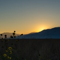 Sunrise at the Bear River Migratory Bird Refuge