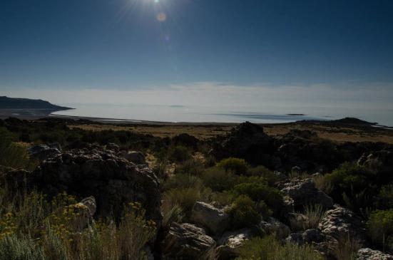 Antelope Island State Park views of the lake
