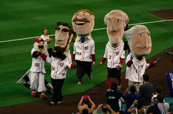 Lincoln wins - Presidents' Race at Nationals Park