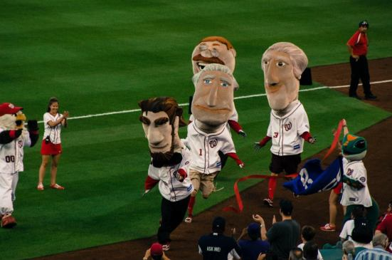 Presidents' Race at Nationals Park