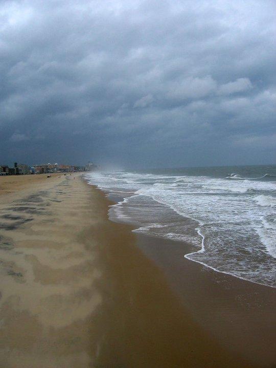 Ocean City beach, off-season