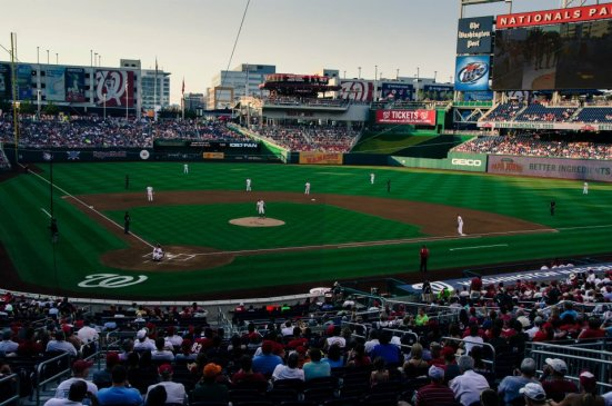 The game begins - Washington Nationals at the Nationals Park
