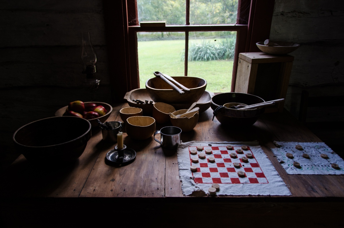 Evening entertainment at George Gilbert's cabin, freedman's cabin